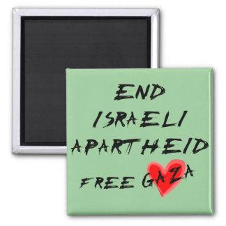 O Apartheid israelita do fim livra Gaza Imãs De Geladeira