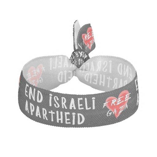 O Apartheid israelita do fim livra Gaza Elástico De Cabelo
