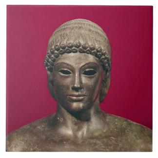 O Apollo de Piombino, cabeça da estátua, encontrou Azulejo Quadrado Grande