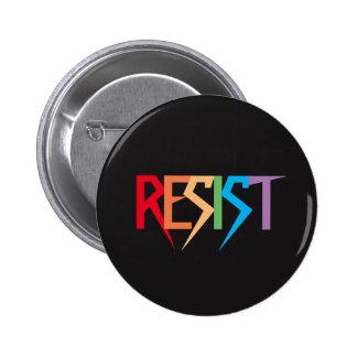 O arco-íris colorido resiste o botão bóton redondo 5.08cm