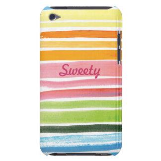 o arco-íris da aguarela listra o speck do ipod tou capas iPod Case-Mate