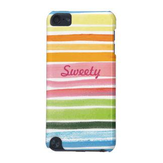 o arco-íris da aguarela listra o speck do ipod tou capa para iPod touch 5G
