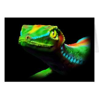 O arco-íris do lagarto do geco colore cartões