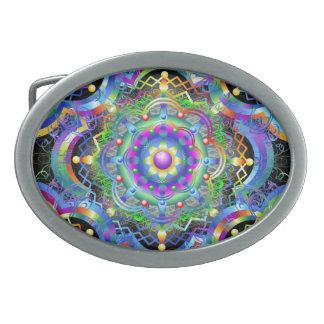 O arco-íris do universo da mandala colore a fivela