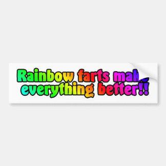 O arco-íris fart pára-choque adesivo para carro