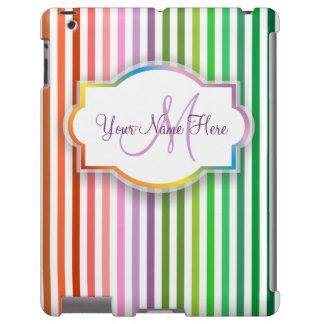 O arco-íris listra a caixa do iPad Capa Para iPad