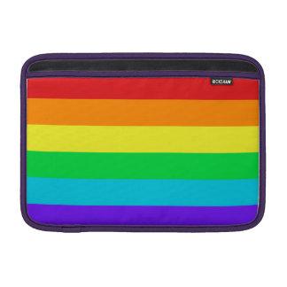 """O arco-íris listra o ar 11"""" de Macbook luva Bolsa De MacBook Air"""