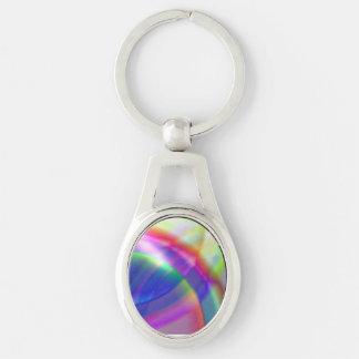 O arco-íris roda a corrente chave do metal chaveiro