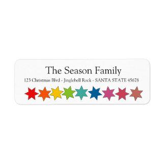 O arco-íris stars a etiqueta do feriado