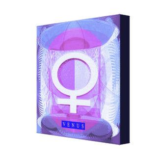 O artista criou o acrílico: ZODÍACO Venus Impressão Em Tela