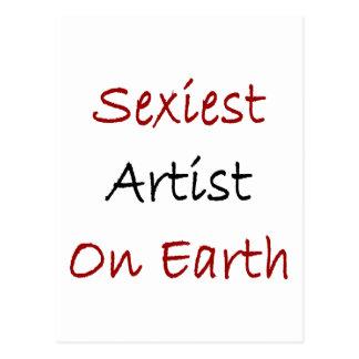 O artista o mais sexy na terra cartão postal