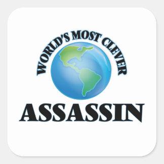 O assassino o mais inteligente do mundo adesivo quadrado
