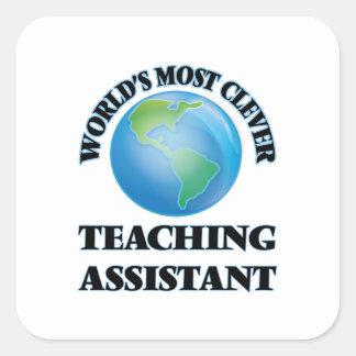O assistente de ensino o mais inteligente do mundo adesivo em forma quadrada