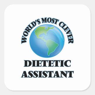 O assistente dietético o mais inteligente do mundo adesivo quadrado