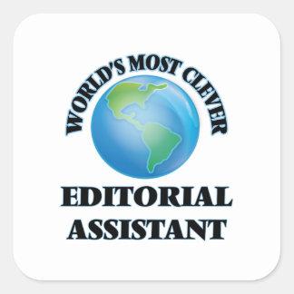O assistente editorial o mais inteligente do mundo adesivos quadrados