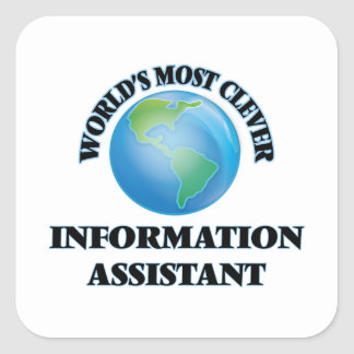 O assistente o mais inteligente da informação do adesivo em forma quadrada