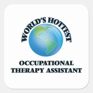 O assistente o mais quente da terapia ocupacional adesivos quadrados