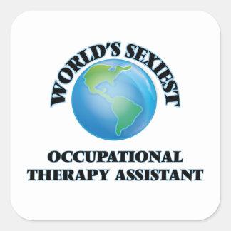 """O assistente o mais """"sexy"""" da terapia ocupacional adesivo quadrado"""