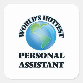 O assistente pessoal o mais quente do mundo adesivos quadrados