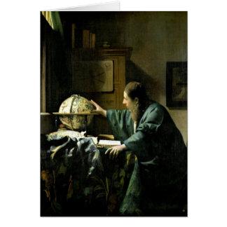 O astrónomo, 1668 cartão