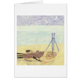 O astrónomo cartão comemorativo