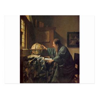 O astrónomo por Johannes Vermeer Cartão Postal