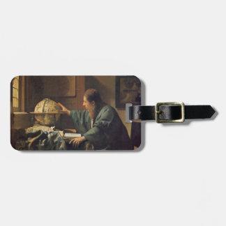 O astrónomo por Johannes Vermeer Etiqueta De Bagagem