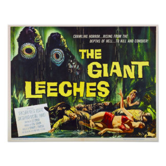 O ataque do gigante Leeches o poster