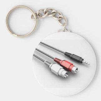 O áudio cabografa o chaveiro