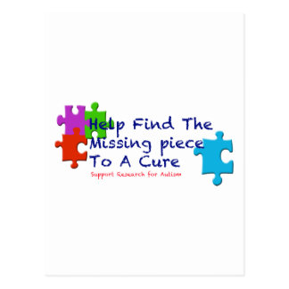 O autismo do apoio encontra uma cura cartão postal