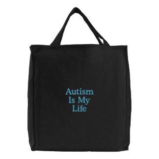 O autismo é minha vida bolsas de lona