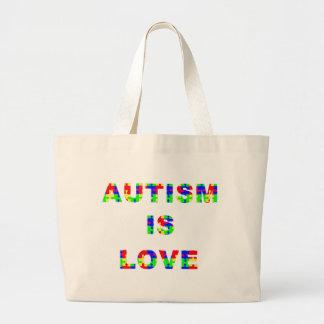 O autismo é saco do amor bolsa tote grande