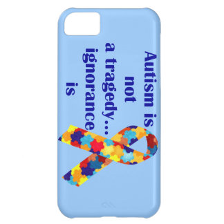 O autismo não é uma tragédia, ignorância é capa para iPhone 5C
