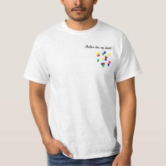 O autismo tem meu coração…. Camisa do apoio t do T-shirt