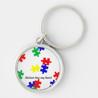 O autismo tem meu coração… corrente chave chaveiro