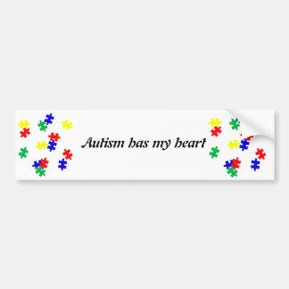 O autismo tem minhas partes do quebra-cabeça do au adesivo para carro