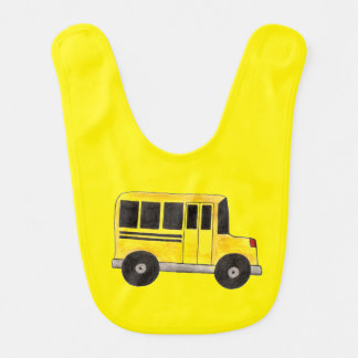 O auto escolar amarelo grande transporta o babador