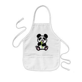 O avental do miúdo feliz da panda