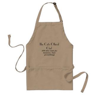 O avental oficial do cozinheiro chefe do gato