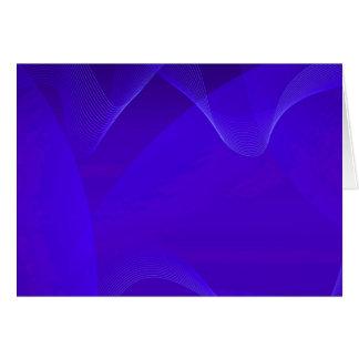 O azul acena I Cartões