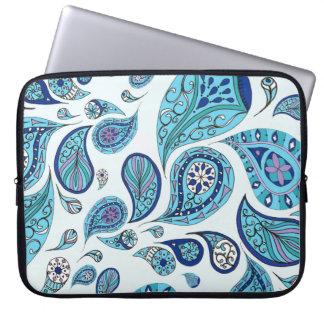 O azul-céu tonifica a bolsa de laptop das lágrimas bolsas e capas para computadores