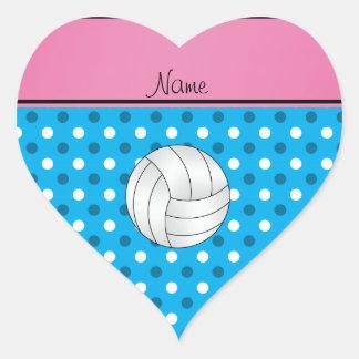 O azul conhecido feito sob encomenda do voleibol adesivo de coração