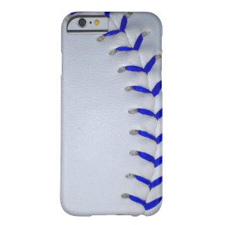 O azul costura o basebol/softball capa barely there para iPhone 6