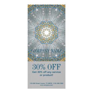 o azul de prata sparkles salão de beleza da forma 10.16 x 22.86cm panfleto