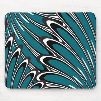 o azul do abstrackt floresce o mousepad