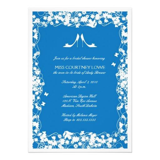 O azul do palácio coloca saltos o chá de panela convite personalizado