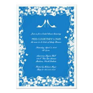 O azul do palácio coloca saltos o chá de panela convite 12.7 x 17.78cm