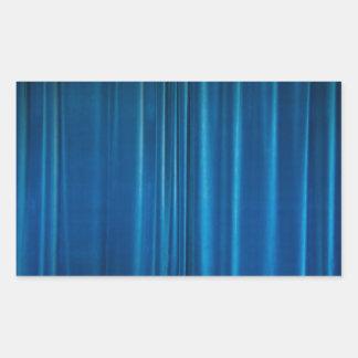 O azul drapeja adesivo retangular