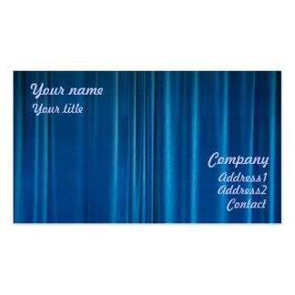 O azul drapeja cartoes de visita
