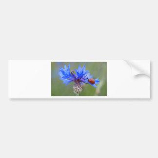 O azul floresce videira da arte do destino do amor adesivo para carro